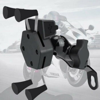 Motorcycle / Bike Mobile Holder with USB Charging