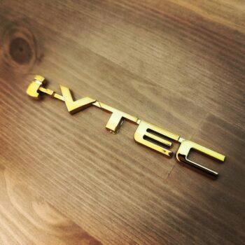 Gold i-VTEC Emblem