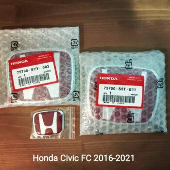 Red H Emblems for Honda Civic FC 2016-2021