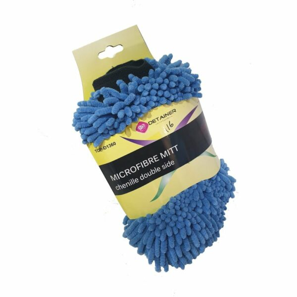 Detainer Micro Fibre Mitt Chenille Double Sided