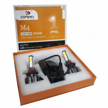 CONPEX LED Car Headlight Bulbs 9006 HB4 Conversion Kit 4 Sides 300W 20000LM 6000K White