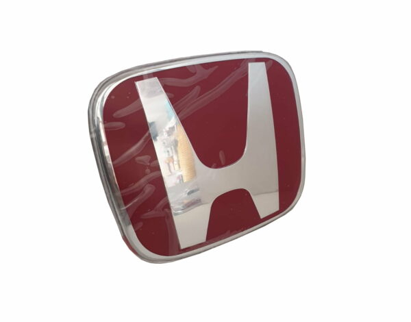 Honda Original Red Emblem for Grille of Civic, Jazz, CRZ, Accord