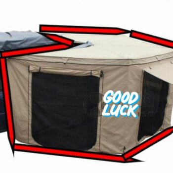 270° Degree Camping Car Awning with Room Tent (2.5m x 2.4 m x 2.6m)